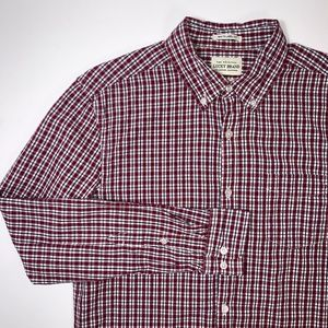 LUCKY BRAND White Label Fit Shirt Medium Red Plaid